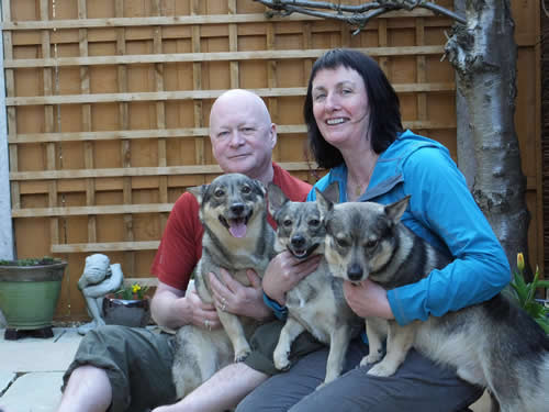 Fiona and Tim with Megan, Loki and Tilly Vallhunds